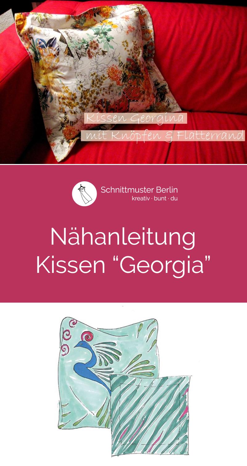 """Nähanleitung für Kissen """"Georgia"""""""