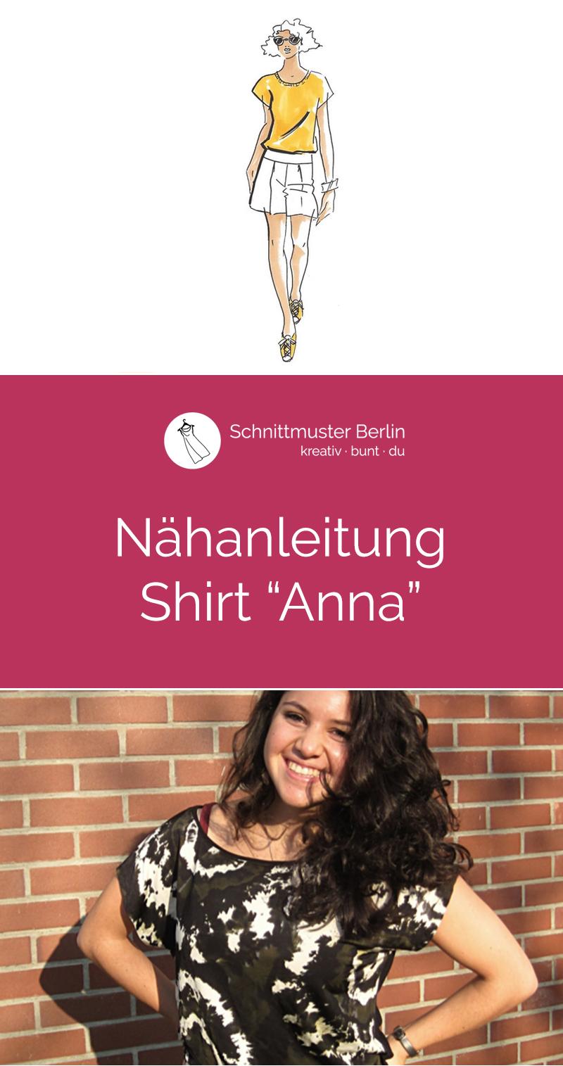 """Nähanleitung für das """"Shirt Anna"""""""