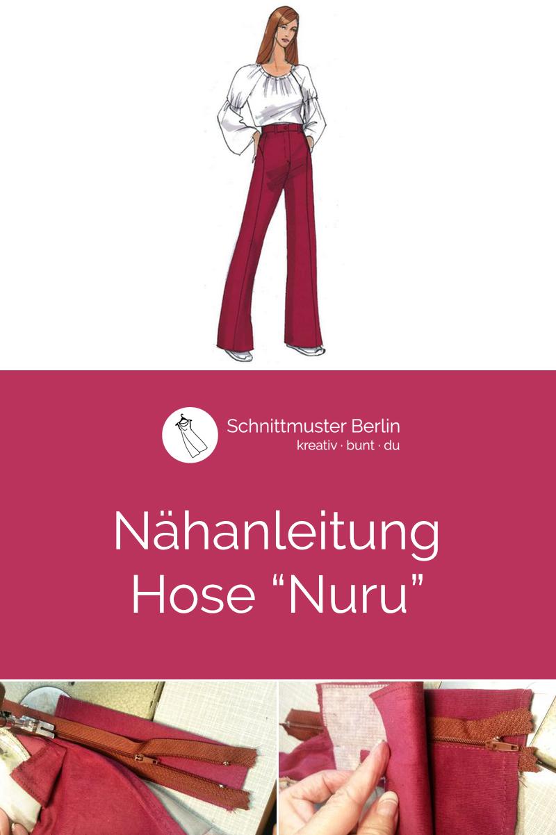 """Nähanleitung für das Schnittmuster Hose """"Nuru"""""""