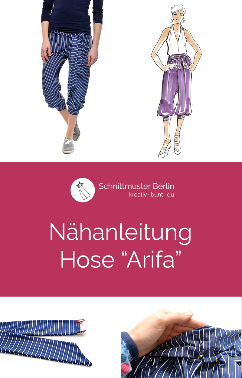 "Nähanleitung Hose ""Arifa"""