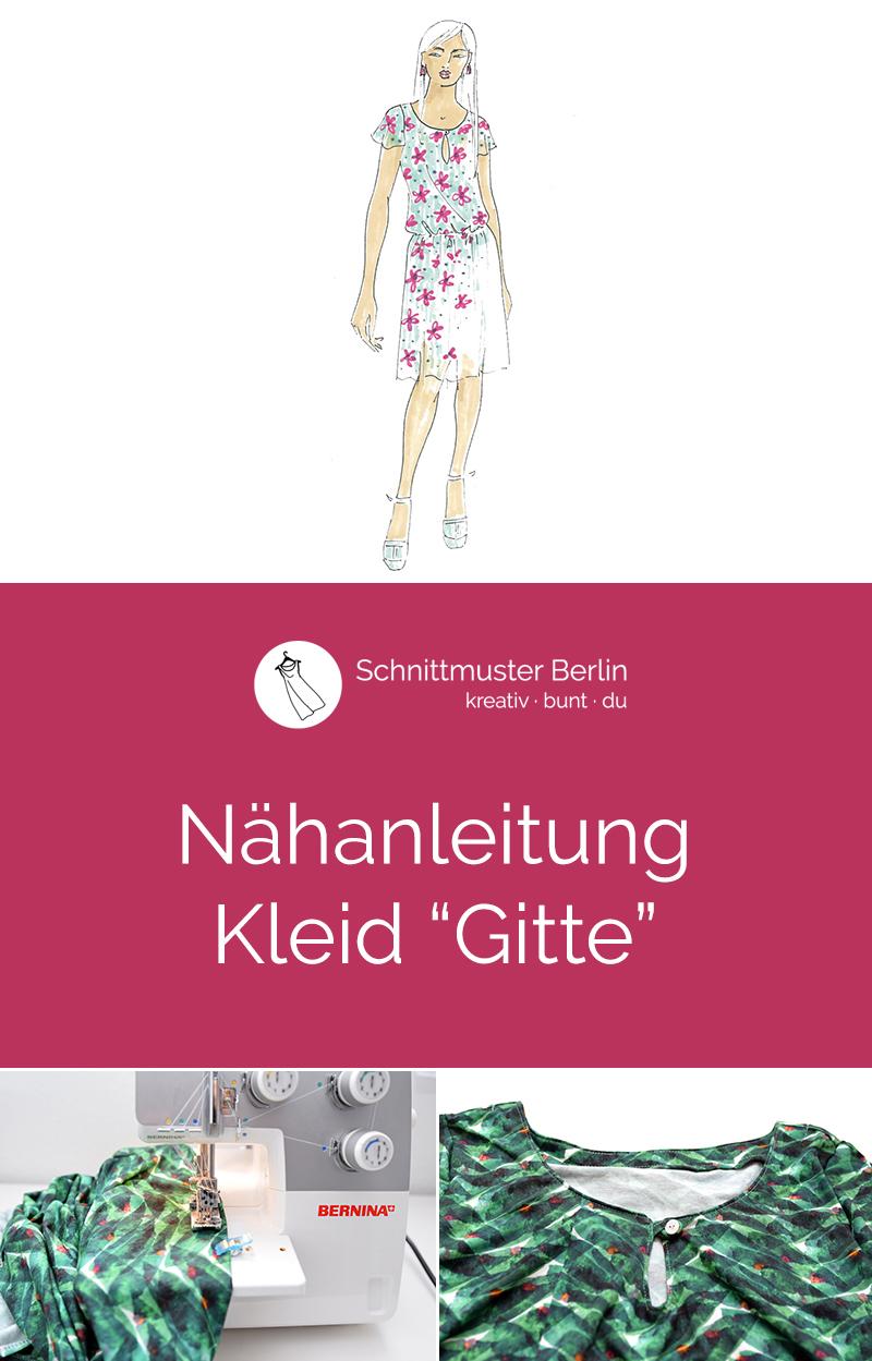 "Nähanleitung Kleid ""Gitte"""