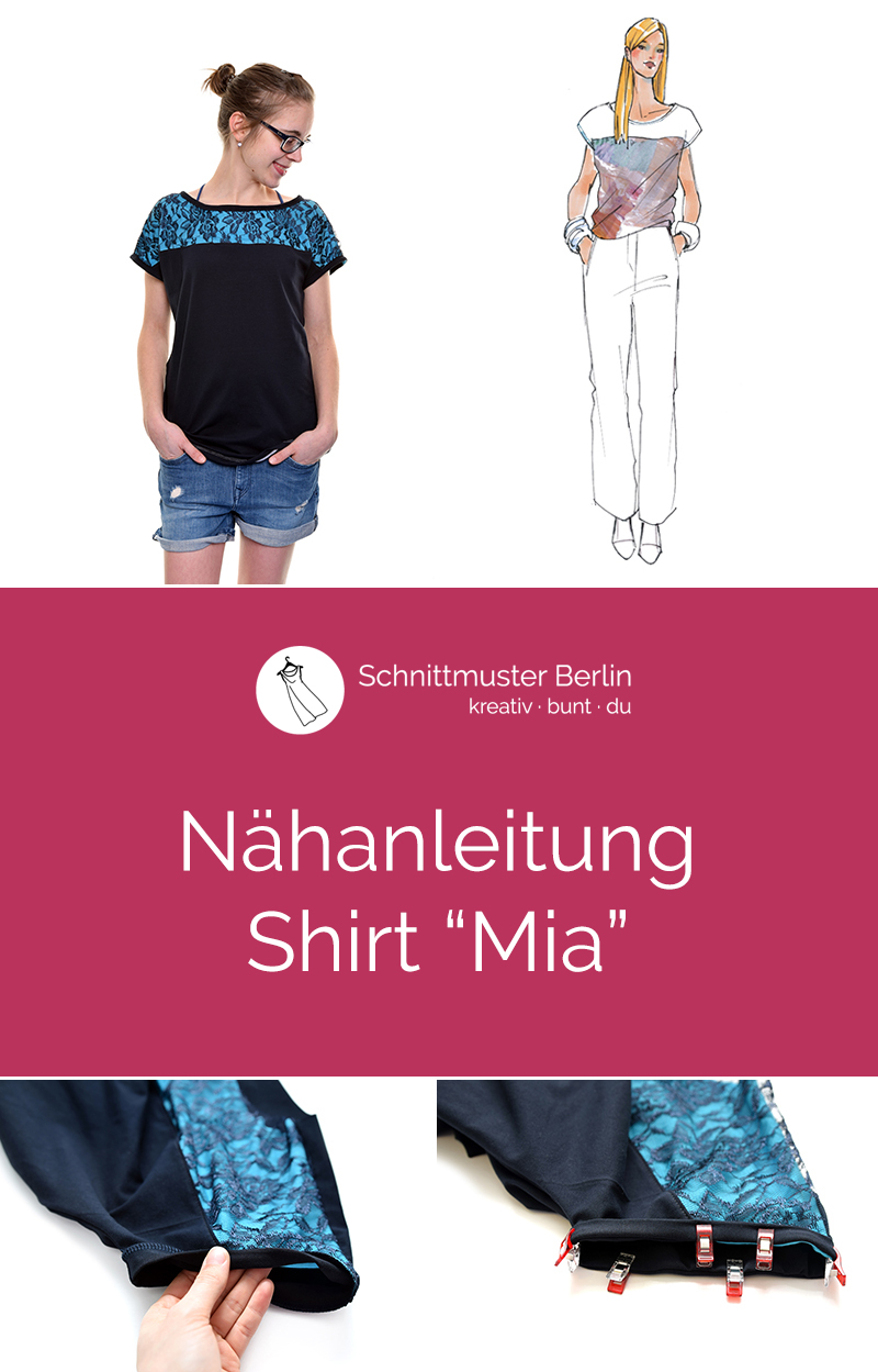 "Nähanleitung Shirt ""Mia"""