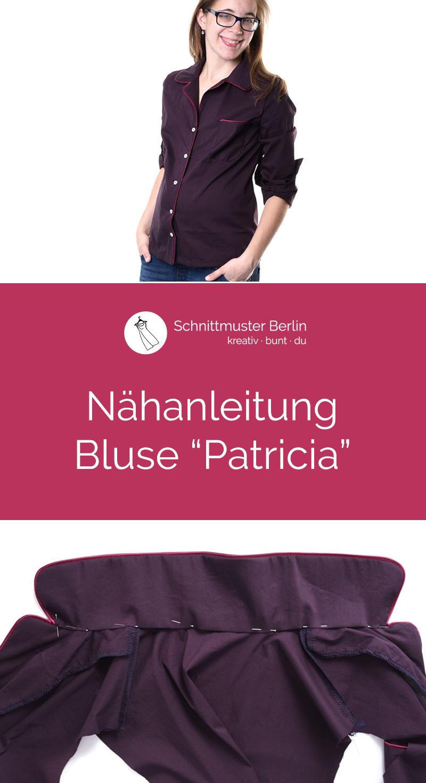 """Nähanleitung für die Bluse """"Patricia"""""""