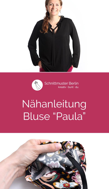 """Nähanleitung für die Bluse """"Paula"""""""